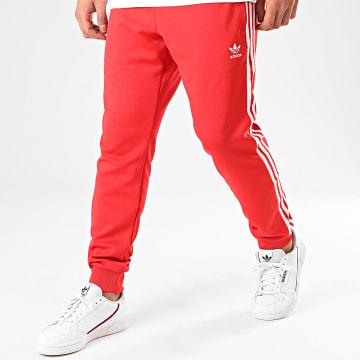 Pantalon Jogging A Bandes Stripes Track Pants FM3808 Rouge