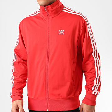 Adidas Originals - Veste Zippée A Bandes Firebird Track Top FM3811 Rouge
