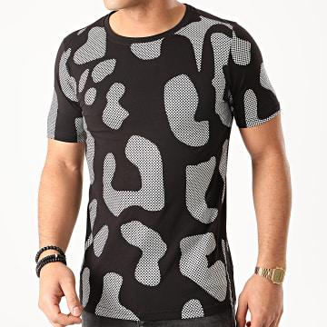 Berry Denim - Tee Shirt XP011 Noir Argenté