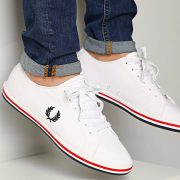 Fred Perry - Baskets Kingston Twill B7259 White
