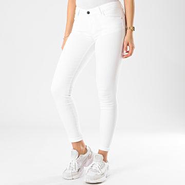 Guess - Jean Skinny Femme W0GA37-D3XV2 Blanc Doré