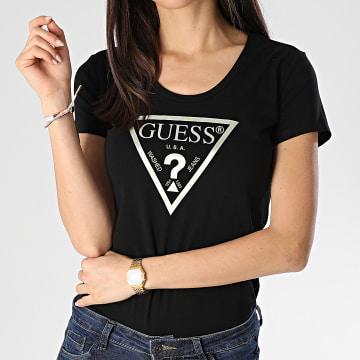 Tee Shirt Slim Femme W0GI77-J1300 Noir