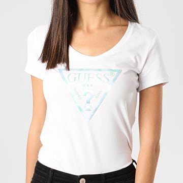 Tee Shirt Slim Femme W0GI77-J1300 Blanc
