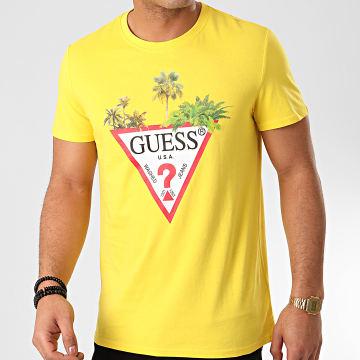 Guess - Tee Shirt M0GI76 Jaune
