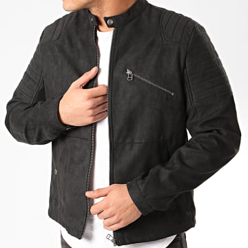 Jack And Jones - Veste Biker Rick Noir