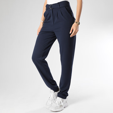 Only - Pantalon Femme Tanja Catia Bleu Marine