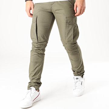 Produkt - Pantalon Cargo Akm Canvas Vert Kaki
