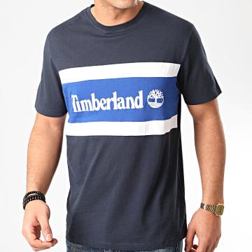 Timberland - Tee Shirt Cut And Sew Colorblock A22S1 Bleu Marine