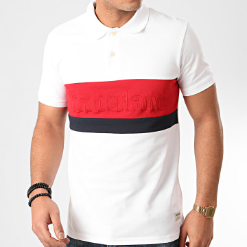 Timberland - Polo Manches Courtes Millers River A1O47 Blanc