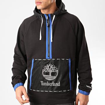 Timberland - Sweat Col Zippé Capuche Mesh MixM A22BZ Noir