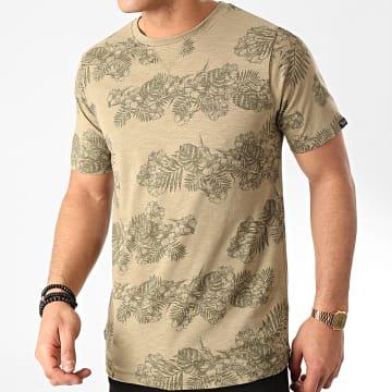 Tee Shirt Waiuku Vert Kaki Floral