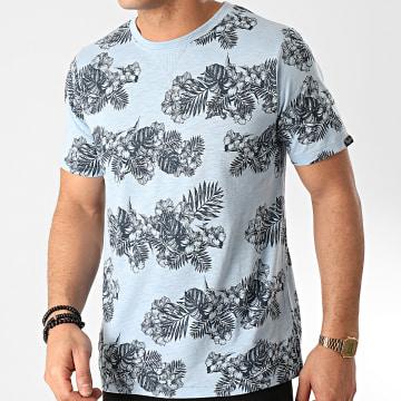 Tee Shirt Waiuku Bleu Clair Floral