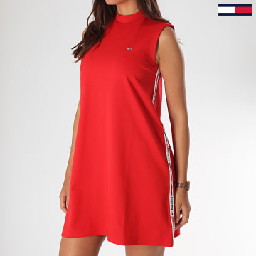 Tommy Jeans - Robe Femme A Bandes Tape Detail A-Line 7919 Rouge