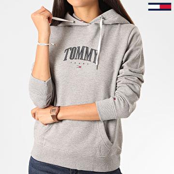 Tommy Jeans - Sweat Capuche Femme Essential Logo 7974 Gris Chiné