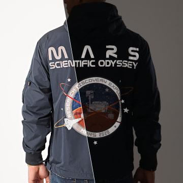 Alpha Industries - Coupe-Vent Capuche Mars Mission 126132 Bleu Marine