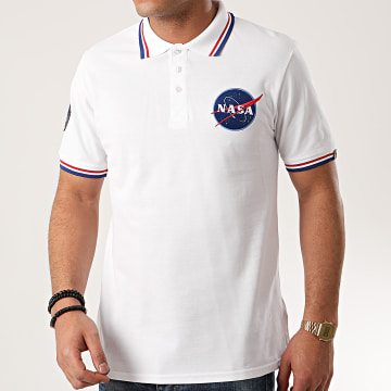 Alpha Industries - Polo Manches Courtes NASA 186601 Blanc