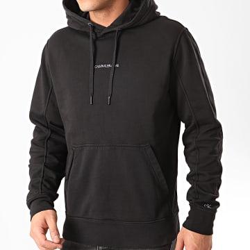Calvin Klein - Sweat Capuche Institutional Chest Logo 4690 Noir