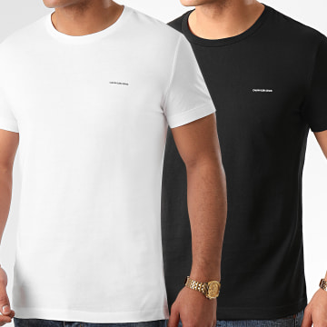 Calvin Klein - Lot De 2 Tee Shirts 5194 Noir Blanc