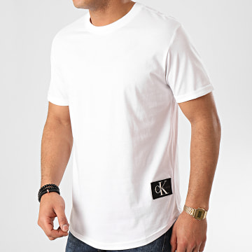 Tee Shirt Oversize Badge Turn Up 5319 Blanc