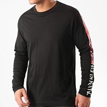 Calvin Klein - Tee Shirt Manches Longues A Bande Institutional Logo 5323 Noir