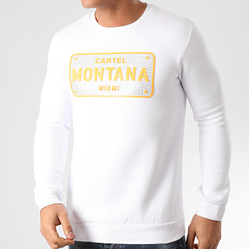 Classic Series - Sweat Crewneck A Strass SW428 Blanc