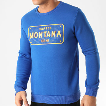 Classic Series - Sweat Crewneck A Strass SW428 Bleu Roi