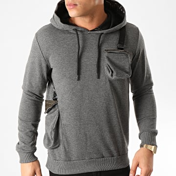 Classic Series - Sweat Capuche SW405 Gris Anthracite Chiné