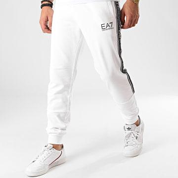 EA7 - Pantalon Jogging A Bandes 3HPP61-PJ05Z Blanc