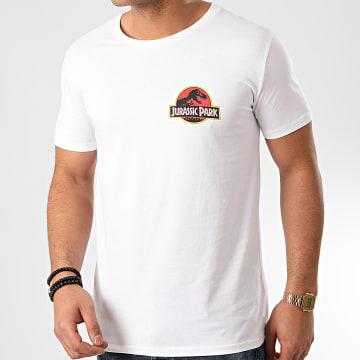 Jurassic Park - Tee Shirt Jurassic Park Original Logo Recto Verso Blanc