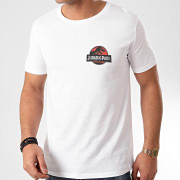 Jurassic Park - Tee Shirt Logo 3D Recto Verso Blanc