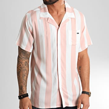 Chemise Manches Courtes Chew Blanc Rose