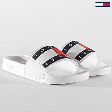 Tommy Jeans - Claquettes Femme Flag Poolside 0474 White