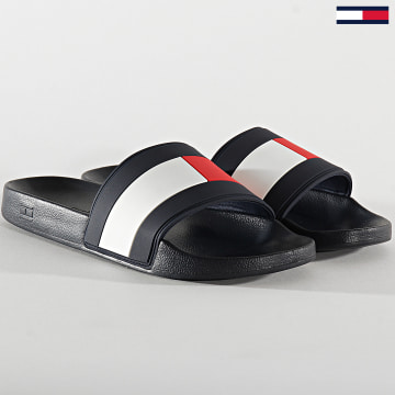 Tommy Hilfiger - Claquettes Essential Flag Poolside 2327 Navy White Red