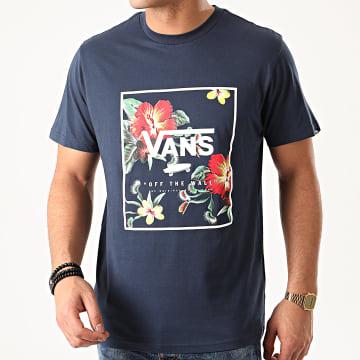 Vans - Tee Shirt Print Box A312SYKB Bleu Marine Floral