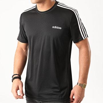 adidas - Tee Shirt A Bandes D2M 3 Stripes FL0349 Noir