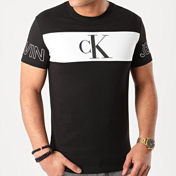 Tee Shirt Slim Blocking Statement 5266 Noir