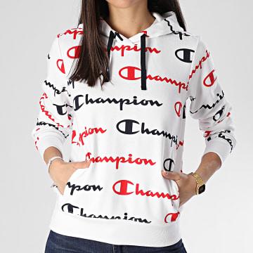 Sweat Capuche Femme 112617 Blanc