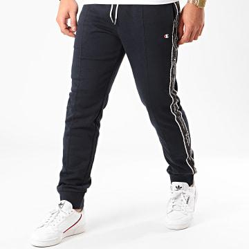 Champion - Pantalon Jogging A Bandes 214226 Bleu Marine