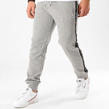 Champion - Pantalon Jogging A Bandes 214226 Gris Chiné
