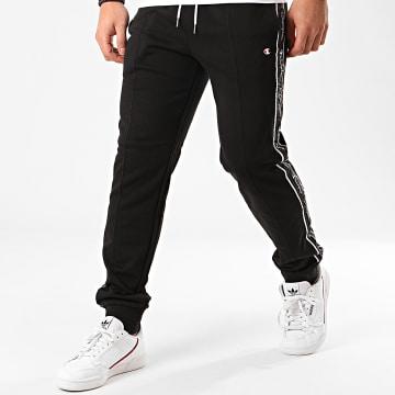 Pantalon Jogging A Bandes 214226 Noir