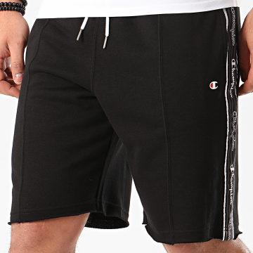 Short Jogging A Bandes 214227 Noir