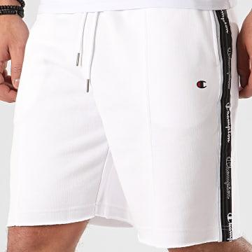 Short Jogging A Bandes 214227 Blanc