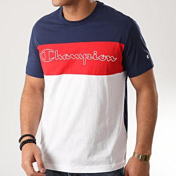 Tee Shirt 214244 Bleu Marine Blanc