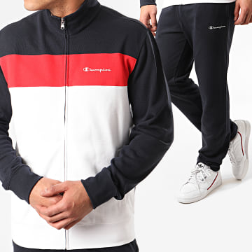 Champion - Ensemble Jogging 214408 Blanc Bleu Marine