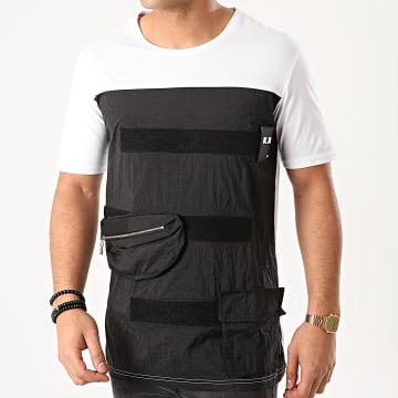 Ikao - Tee Shirt Poches F859 Blanc Noir