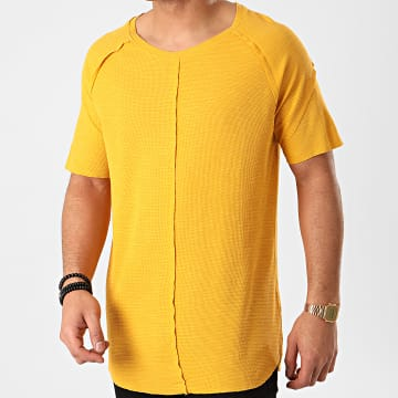 Ikao - Tee Shirt Oversize F858 Jaune Moutarde