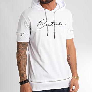 Ikao - Tee Shirt Capuche F855 Blanc