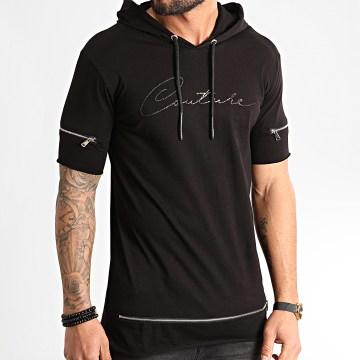 Ikao - Tee Shirt Capuche F855 Noir