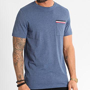 Jack And Jones - Tee Shirt Poche Carlos Bleu