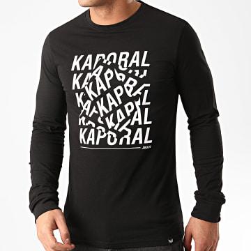 Kaporal - Tee Shirt Manches Longues Miso Noir